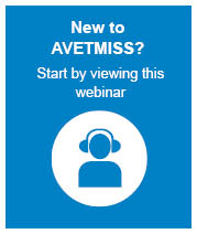 New to AVETMISS webinar