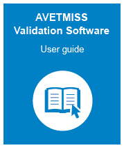 The user guide for the avetmiss validation software. It is a pdf file
