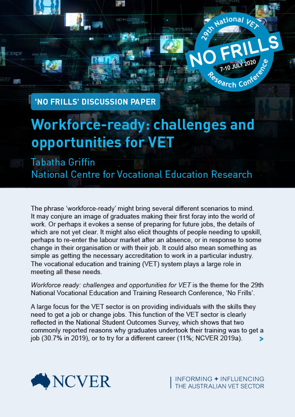 Workforce -Ready: challenges and opportunities for VET