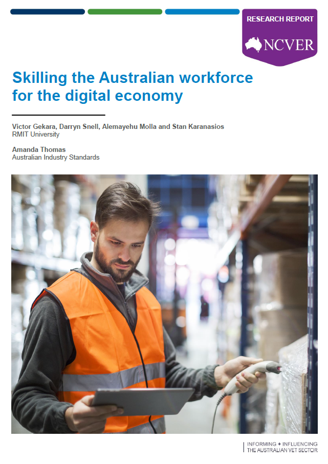 Skilling the Australian workforce for the digital economy cover