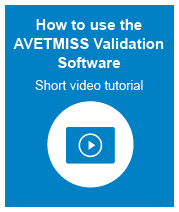 a youtube vidwo showing you how to use the avetmiss validation software