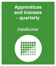 link to access the DataBuilder tool for apprentices and trainees quarterly data